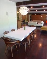 dining room with the artichoke pendant cherner furniture