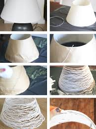 diy hanging lamp shade making how to make table led lighting projects upcycling ideas try teacup
