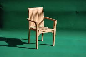teak stacking armchair garden teak