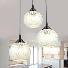 3 light glass pendant 3 light round glass shade multi pendant light for living room in