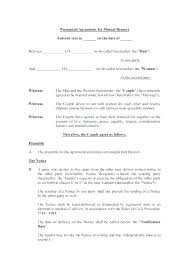 prenup samples example prenuptial agreement for mutual respect template download