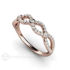 infinity wedding rings. diamond infinity wedding ring april birthstone anniversary band \u2013 rare earth jewelry rings