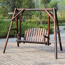 get quotations carbonized wood preservative wood balcony patio rocking chair swing chair hanging chair indoor wooden swing hanging