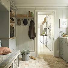 grey painted vertical shiplap in mudroom | Laundry/Mudrooms ...