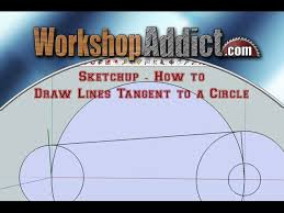 In this video, we talk about how to use the brand new dashed lines function in sketchup 2019! Sketchup How To Draw Lines Tangent To A Circle Instructables