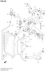 2006 suzuki boulevard m109r vzr1800 radiator hose parts best oem rh bikebandit m109r cooling system diagram m109r cooling system diagram