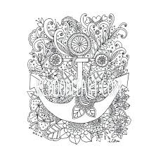 Coloring Pages Of Anchors Instant Digital Download Adult Coloring