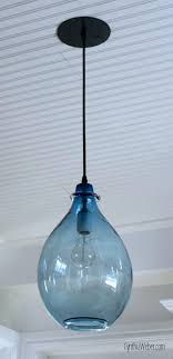 beach pendant light must see blue pins coastal lighting chandelier and sea glass mini lights