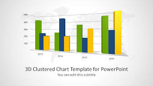 3d Clustered Chart Template For Powerpoint