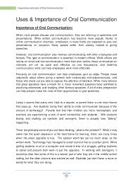 essay on importance of oral communication essay on importance of oral communication