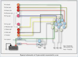 trailer plug and socket wiring diagram realestateradio us 13 pin trailer wiring diagram at 13 Pin Wiring Diagram
