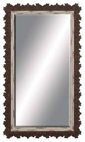 wood wall mirrors. Perfect Wall Wood Wall Mirror With Unique Jagged Edged Border Intended Mirrors