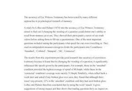 eyewitness testimony essay psychology paper writing service eyewitness testimony essay