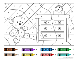 Follow the color key and watch the image come to life before your very eyes. Color By Number Printables Kindergarten Colors Color Worksheets Coloring Worksheets For Kindergarten