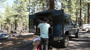 Here's what's great and not-great about my DIY truck camping setup