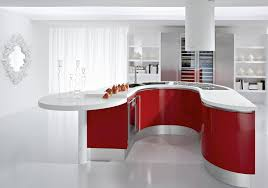 White And Red Kitchen Interior Design Style Apartment House Room Kitchen White Red