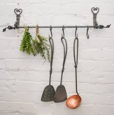 ironware lighting. Hand Forged Iron Hanging Rail W/hooks Ironware Lighting