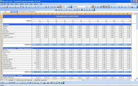Monthly Household Expense Form Example Of Excel Budget Spreadsheet Free Monthly Expense Sheet