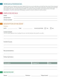 Medical Incidentrt Form Template 289973 Qld Uk Word Incident