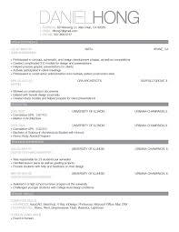 Simple Sample Resume Format For Students Template Singapore Hloom