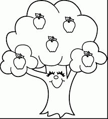 Small Picture Coloring Page Apple Tree Page In diaetme