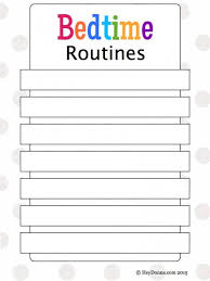 Bedtime Chart Printable Bedtime Routines For Children Plus Free Printable Hey Donna