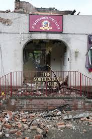 Northenden Golf Club fire aftermath Manchester Evening News