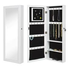 Storage Wall Mount Jewelry CaseWhite Mirrored Cabinet Armoire  Organizer GHFG44in Boxes U0026 Bins From Home Garden On Aliexpresscom  Wall Mounted Jewelry Cabinet2