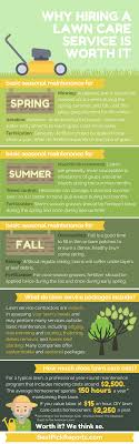 why hiring a lawn care service is worth it best pick reports infographic on why hiring a lawn care service is worth it