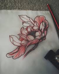 Japanese Lotus Tattoo Sketch By Akos Japanese Flowers Blumen