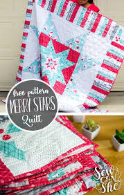 The Merry Stars Quilt (free pattern!) — SewCanShe | Free Sewing ... & The Merry Stars Quilt (free pattern!) — SewCanShe | Free Sewing Patterns  for Beginners Adamdwight.com
