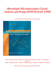 Electronic Circuit Analysis And Design 4th Edition Pdf Download Microelectronics Circuit Analysis And Design