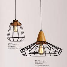 diy wood chandelier lighting with e27 socket