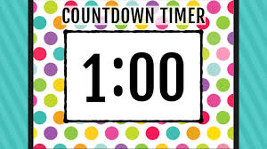 1 Minute Countdown 1 Minute Countdown Timer