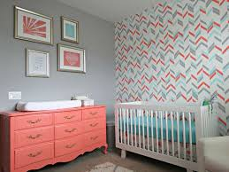 Noelle\u0027s Coral, Aqua and Gray Nursery with Gold Accents ...