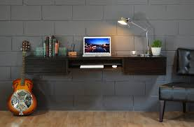 wall mounted desk minimalist floating writing table eclectic