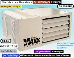Modine Heater Sizing Chart 2019 Reviews Mr Heater Big Maxx Garage Heaters Gas