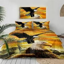 3d eagles bedding sets sea printed