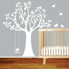 artdesign white tree wall stickers for nursery