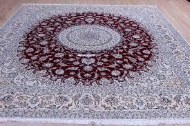 nain 6lah dark red persian rug very fine nain persian carpet with lots of silk