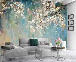Murwall Floral Wallpaper Peach Blossom ...