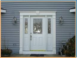 Fiberglass Entry Door With Decorative Glass And Sidelites ...