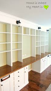 office wall shelving systems. remodelaholic build a wall to built in desk and bookcase with shelves office shelving systems i