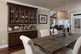 rustic dining rooms ideas. place wooden cabinets for spacious dining room ideas with rustic table and white chairs rooms n