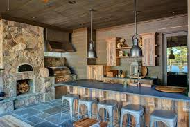 Rustic Outdoor Kitchen And Bar Designs Inspirational Of