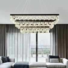 living room crystal chandelier rectangular atmosphere led pendant lights hall bedroom restaurant postmodern lighting australia pen