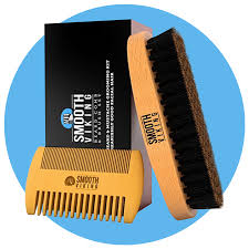 beard and mustache brush and comb kit