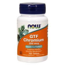NOW Chromium <b>GTF</b>, <b>200</b> мг, таблетки, 100 шт. купить в Москве ...