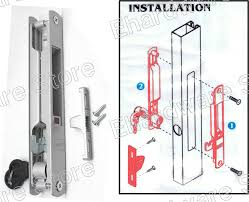 aluminium patio glass sliding door flush locksets as1032