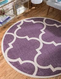 main unique loom 6 x 6 trellis round rug photo